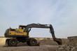 Excavator is Preparing a Construction Site