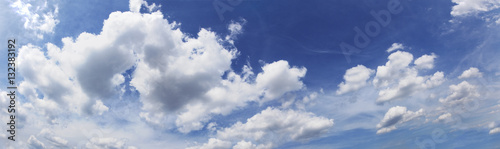 Obraz Blue sky cloudscape as background. Horizontal. - fototapety do salonu