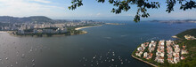 Panoramic Photo Of Guanabara Bay Made From Sugar Loaf In Rio De Janeiro Brazil