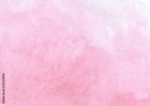 Photo  Hand drawn watercolor pastel pink painted texture quality