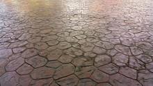 Brown Stone Floor Texture Design