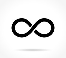 Infinite Icon On White Backgro...