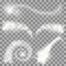 Magical Glitter Stars Set Vector