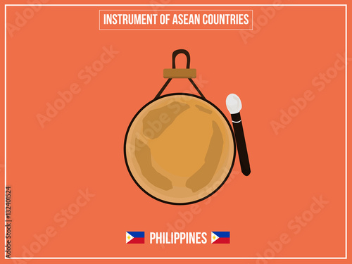 Photo  Vectors illustration of Instrument of Philippines country