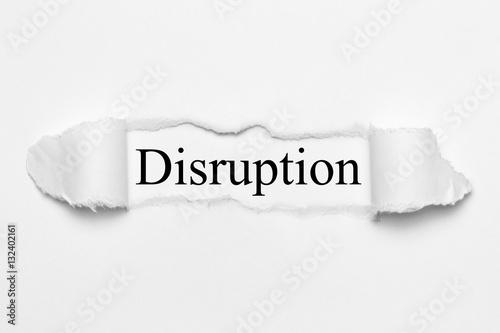 Fotografie, Obraz  Disruption on white torn paper