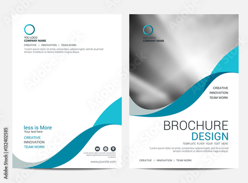 Fotografie, Obraz  Brochure template flyer background for business design