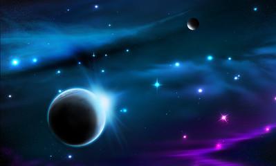 Fototapeta na wymiar space galaxy background