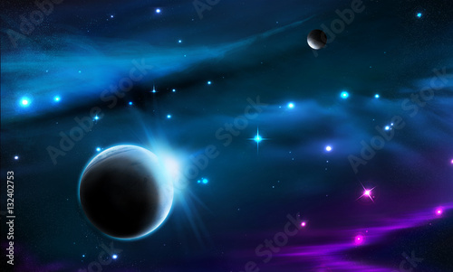 Obrazy na płótnie Canvas space galaxy background
