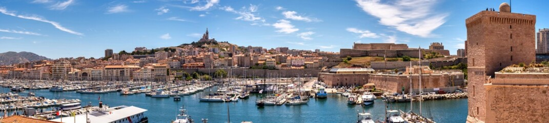 Panorama alter Hafen von Marseille