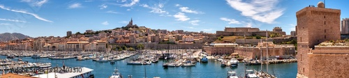 Canvas Prints Ship Panorama alter Hafen von Marseille