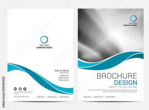 Fototapeta Brochure template flyer background for business design obraz