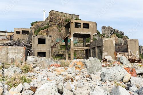 Photo  Battleship Island in Nagasaki