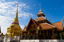 Wat Pong Sanuk Tai Temple In Lampang Province, Thailand