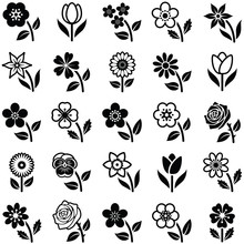 Flower Icon Collection - Vecto...