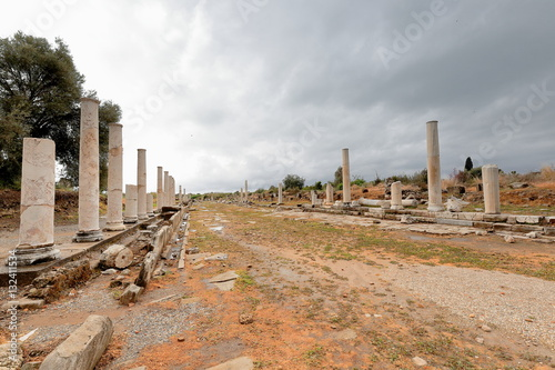 Staande foto Rudnes Colonnaded street of the ancient city of Side. Pamphylia-Turkey. 0007