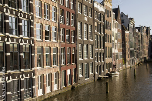 Photo  Historical buildings in Amsterdam