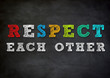 canvas print picture - respect each other