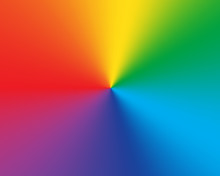 Radial Gradient Rainbow Backgr...