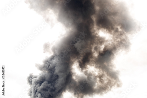 Poster Fumee Dense and dark smoke from a fire