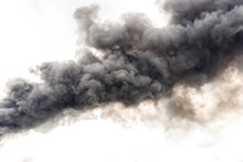 The Smoke Of A Fire Covering P...