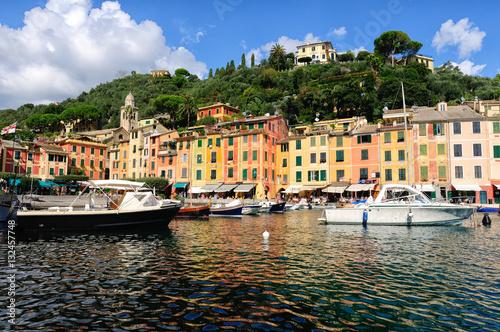 Canvas Prints Portofino, famoso paese della Liguria, Italia