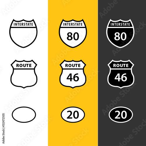 Fotografía Route Icons