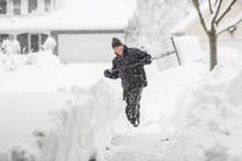 Man Shoveling Snow (shallow De...