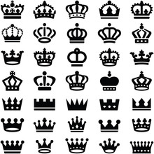 Crown Icon Collection - Silhou...
