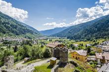 Castle In Italian Alps, Scenic...