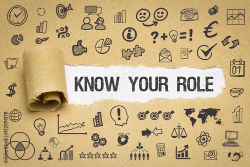Fotografía  Know Your Role / Papier mit Symbole