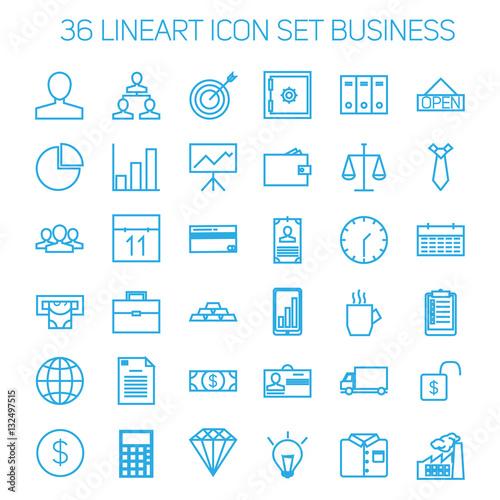 Fototapeta Business icons. Start up and management signs. obraz na płótnie