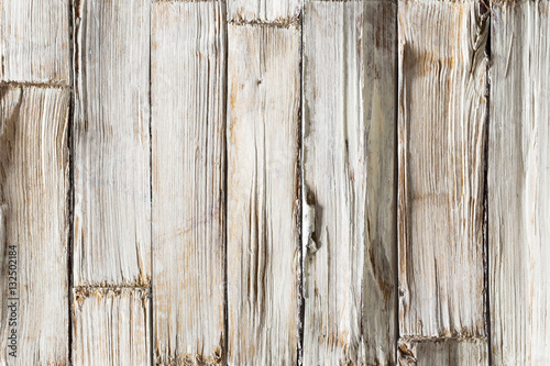 Papiers peints Bois Wood Background, White Wooden Planks Texture, Grained Timber Wall with Rough Woodgrain Plank