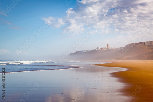 Poster Maroc Early in the morning after rain on beach of Sidi Ifni