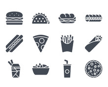 Fast Food Icon Silhouette
