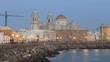 Cadiz Cathedral in the evening