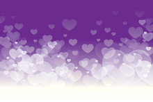 Vector Of Happy Valentines Day With Blinking Heart And Purple Background Design.