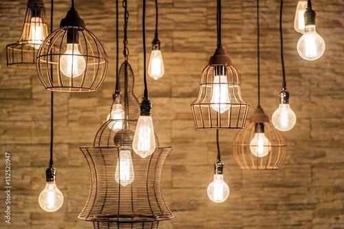 Foto op Plexiglas Retro vintage lamps