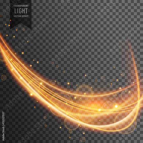 Fototapety, obrazy: dynamic gold wave with sparkles on transparent background