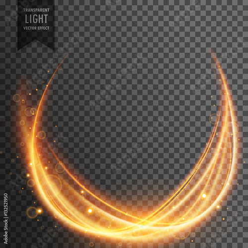 Fototapety, obrazy: abstract magical light effect with golden wave