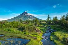 Mayon Volcano In Legazpi, Phil...