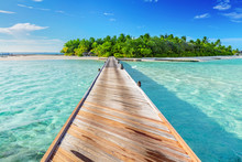 Wooden Jetty Towards A Small I...