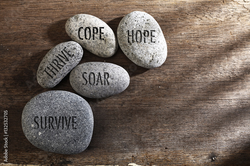 Fotomural  inspirational stones