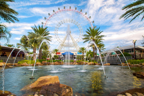 Fotografie, Tablou  The Orlando Eye is a 400 feet tall ferris wheel in the heart of Orlando and the