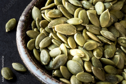Fotografie, Obraz  Green pumpkin seeds - pepita