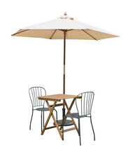 Caffe Table Chair Parasol,isol...