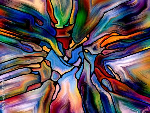 Deurstickers Paradijsvogel Paradigm of Color