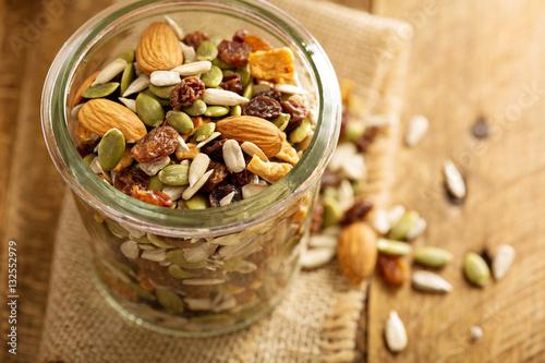 Fotografie, Obraz  Dried fruit and nuts trail mix