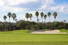 Golf Course With Sand Trap