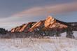 Boulder's Winter Flatirons