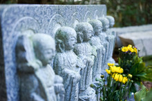 Senior Woman Visiting A Grave